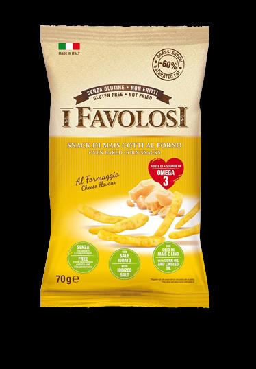 I Favolosi - Bastoncini di mais al formaggio 70gr