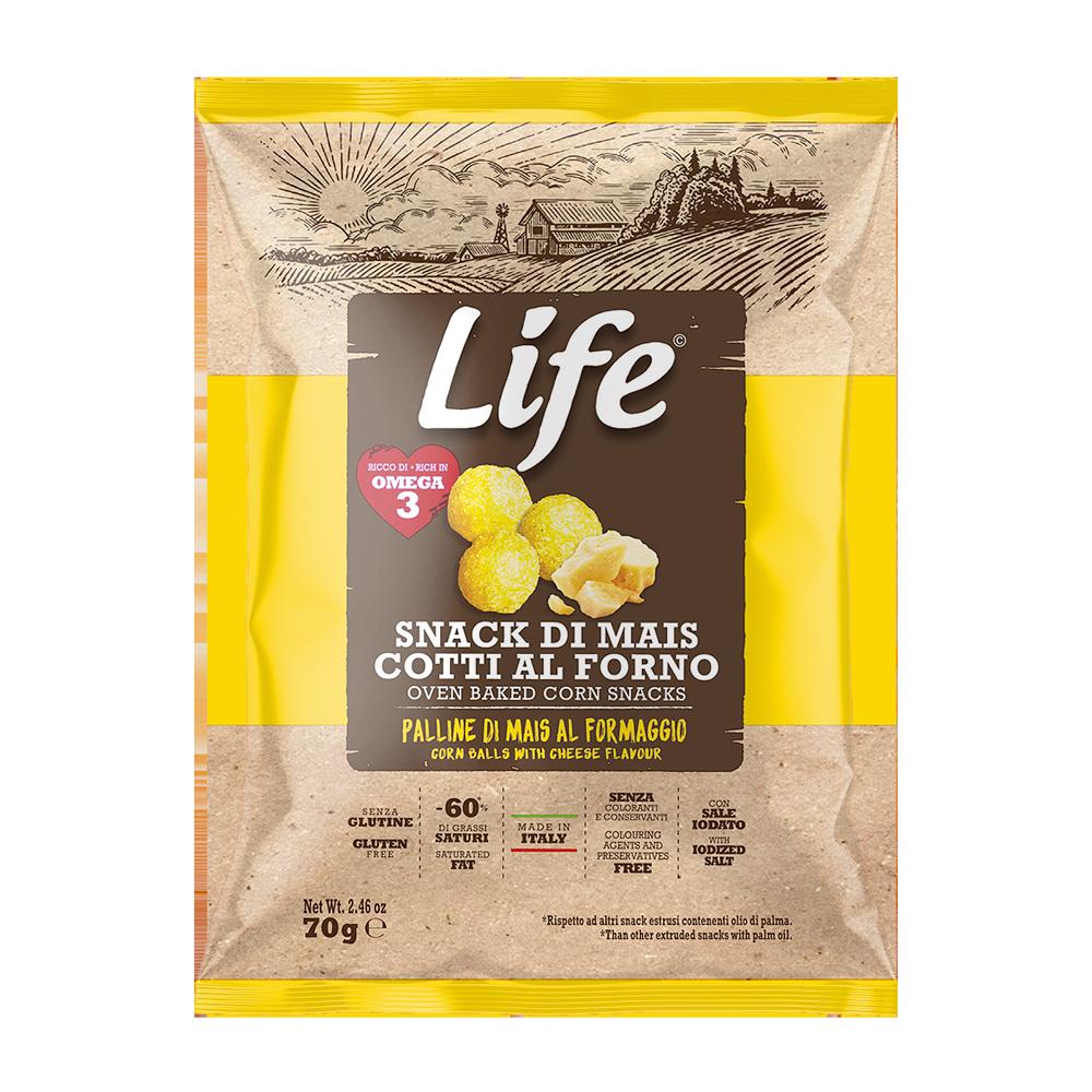 Life -Palline di mais al formaggio 70gr