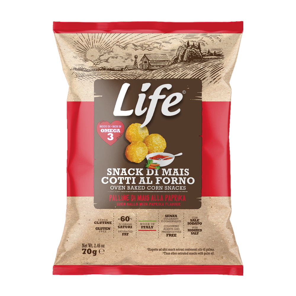 Life Palline di mais alla paprika 70gr