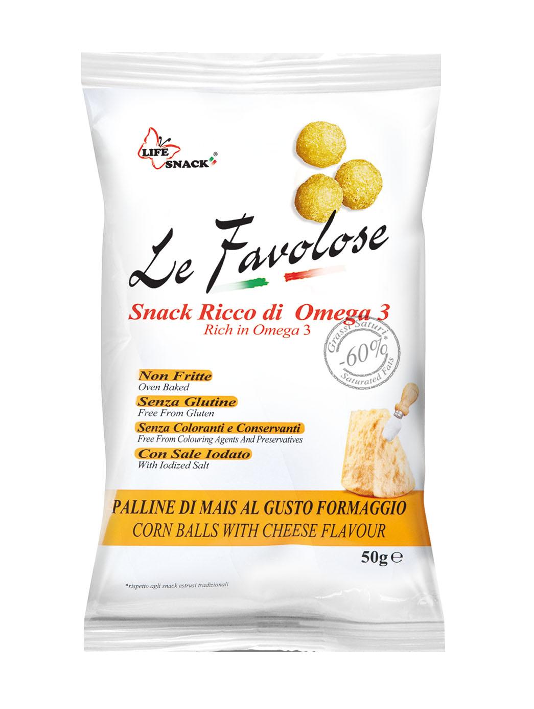 Le Favolose Palline di mais al formaggio 50gr