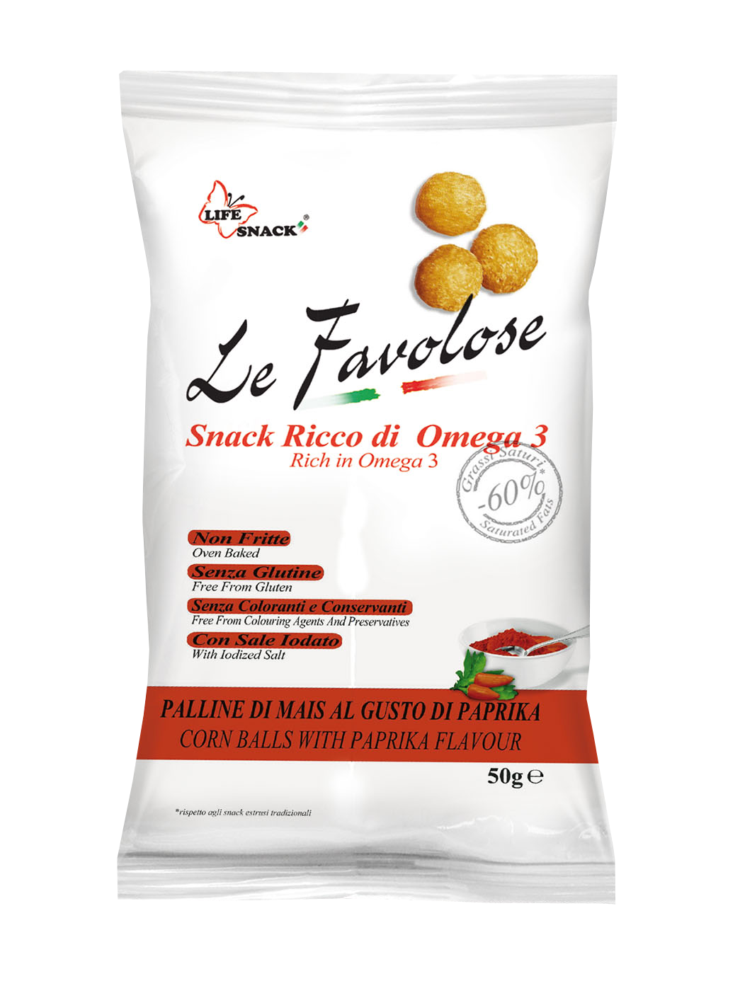 Le Favolose Palline di mais alla paprika 50gr