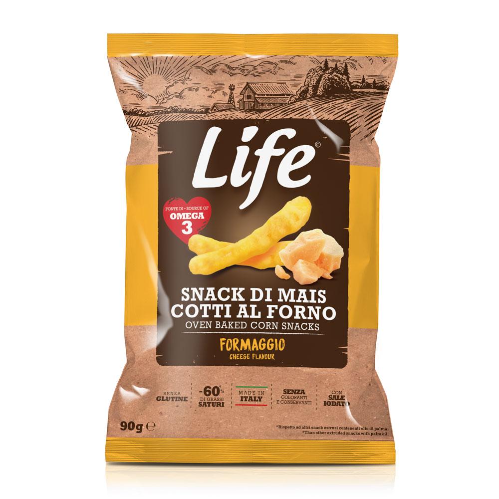 Life Bastoncini di mais al gusto formaggio 90 GR