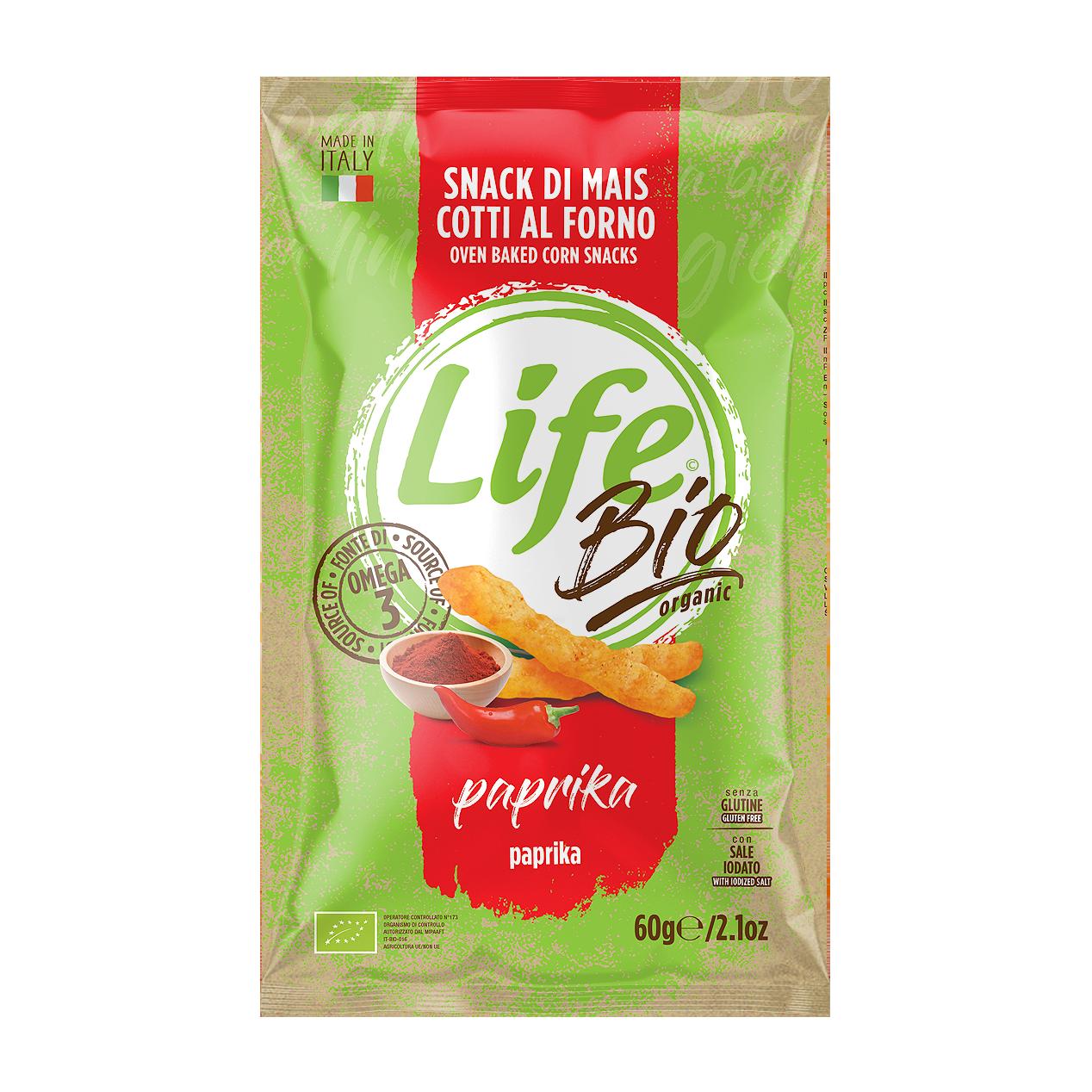 Life BIO Bastoncini di mais al gusto paprika 60 GR